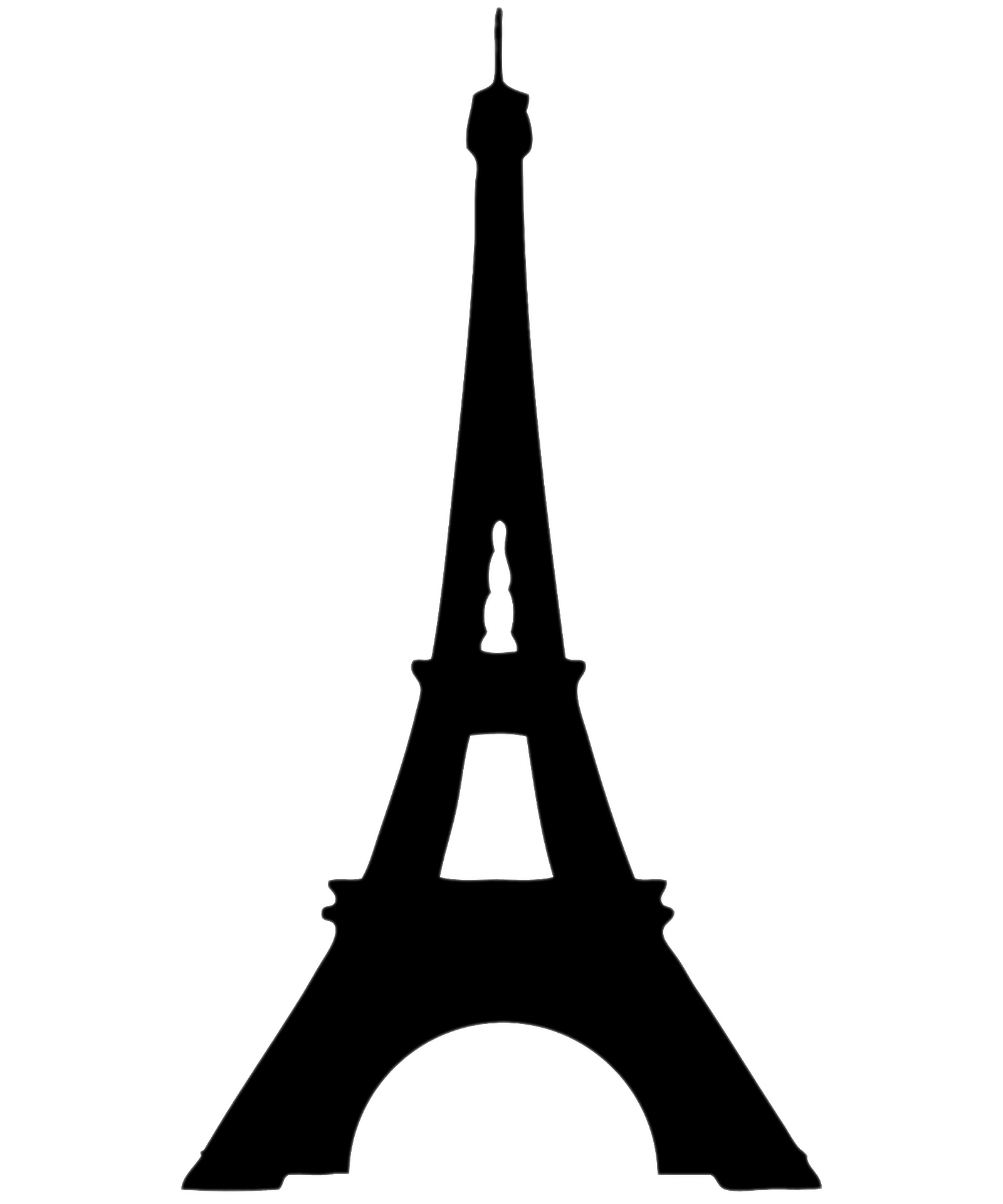 Eiffel transparent png stickpng. Tower clipart silhouette