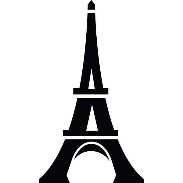 Tower clipart silhouette. Free eiffel clip art