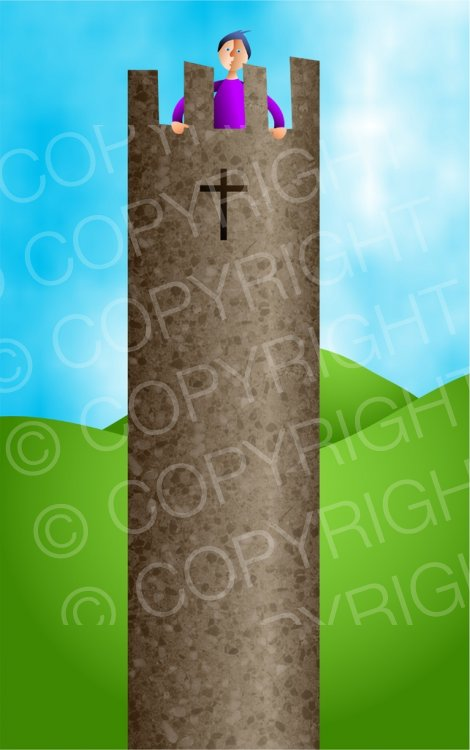 Tower clipart strong tower. Christian illustration prawny