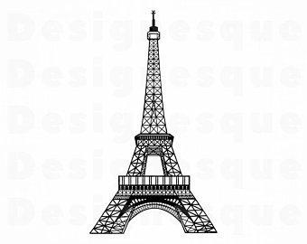 Tower clipart svg. Paris etsy