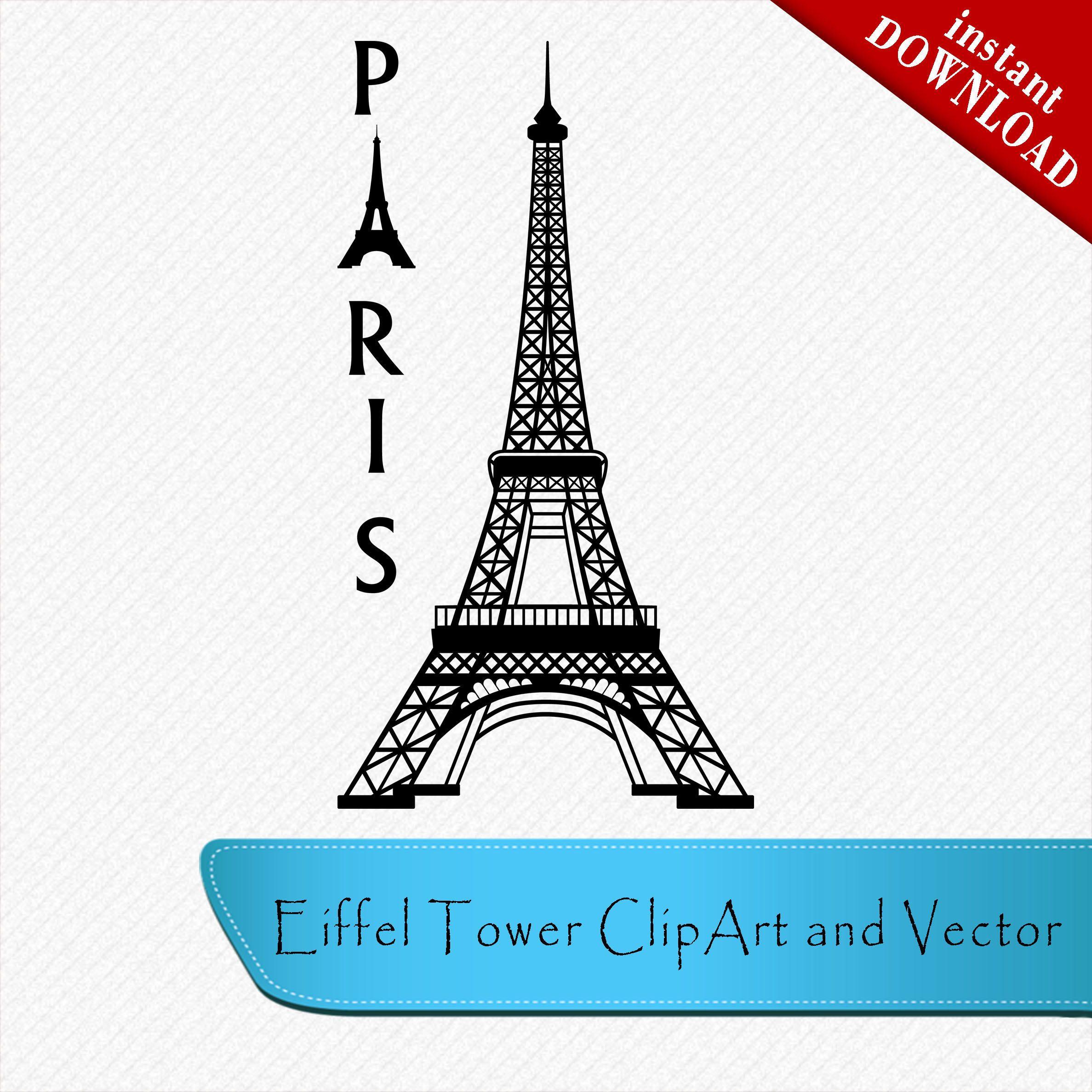 Eiffel paris france . Tower clipart svg