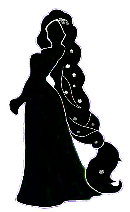 Rapunzel silhouette at getdrawings. Tower clipart tangled tower