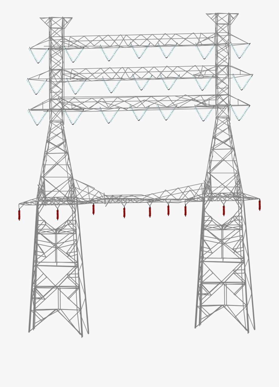 Tower clipart transmission line tower. Power lines free