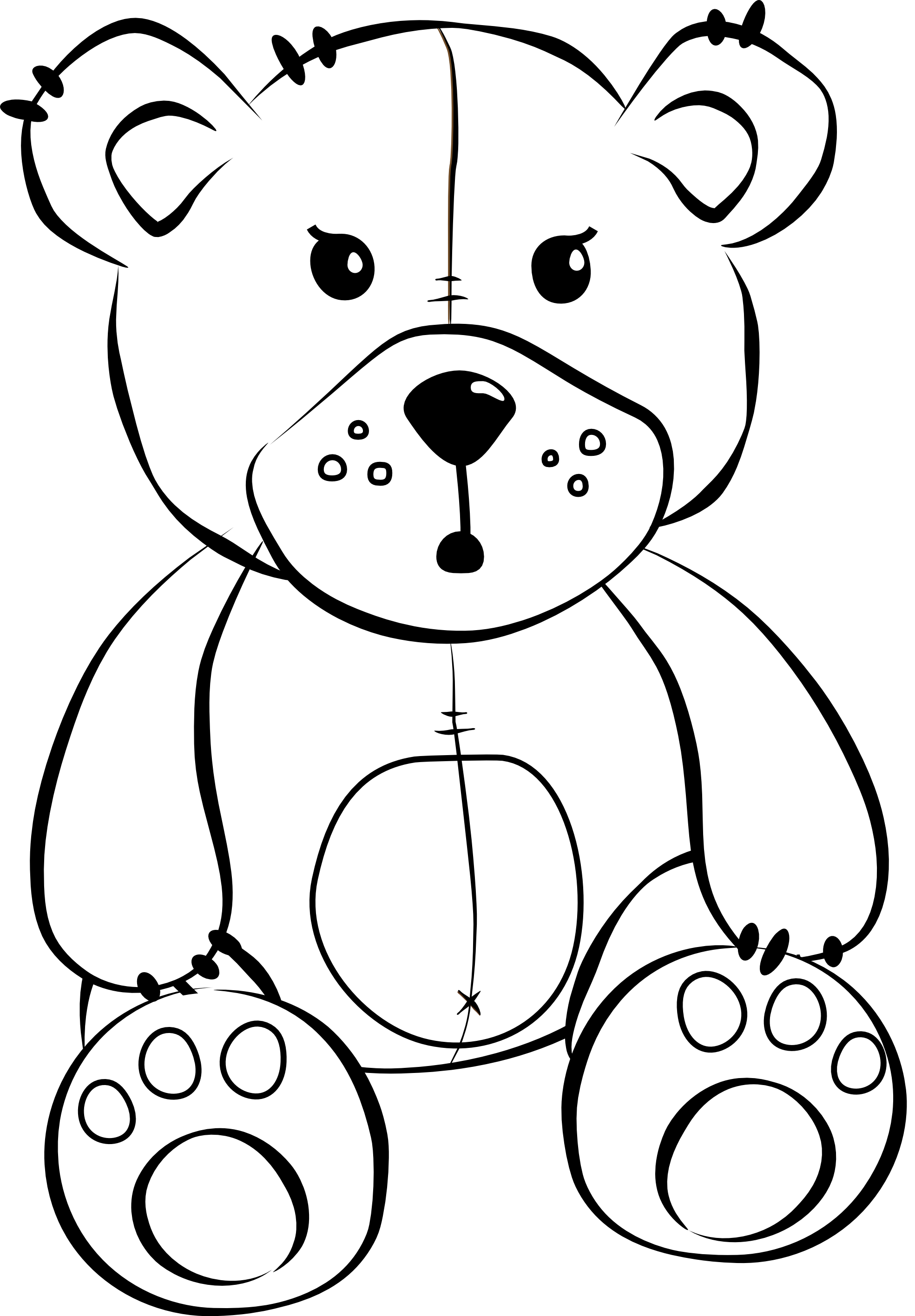 Stuffed Animals Online Coloring Page | Online coloring pages ... | 2832x1969