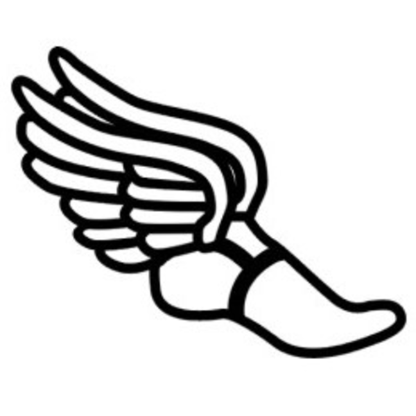 Shoe silhouette . Track clipart