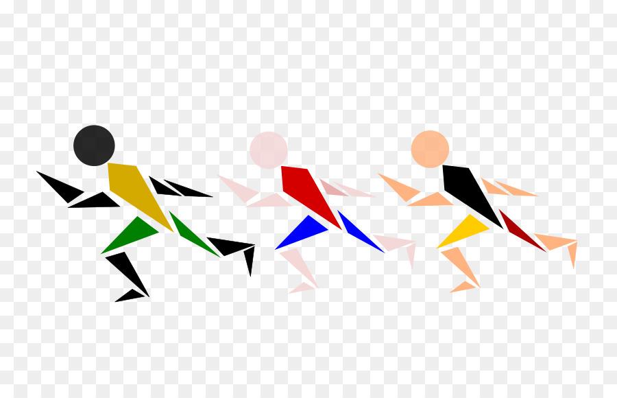 Field running sprint clip. Track clipart