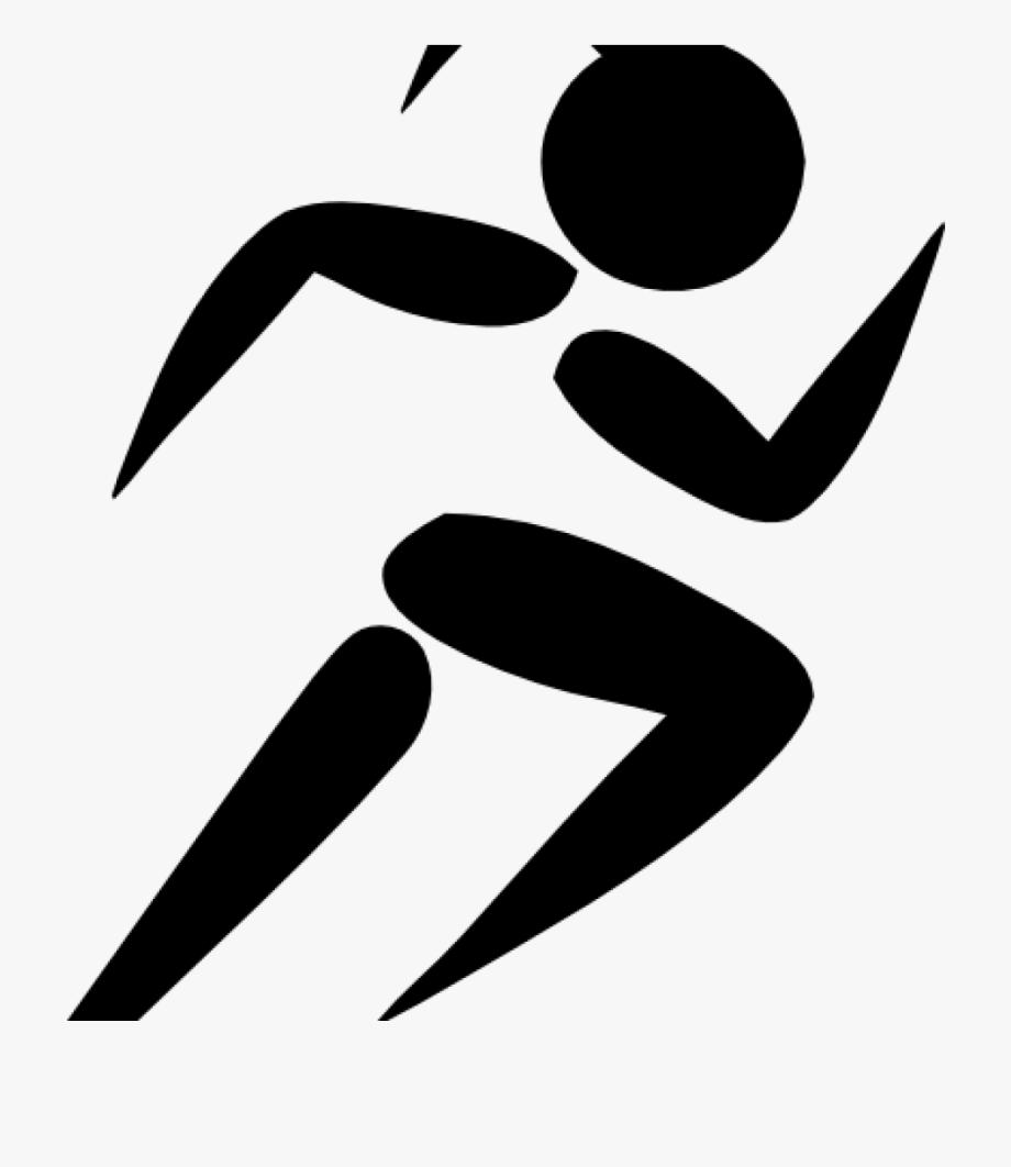 Track clipart cartoon. Running female runner clip