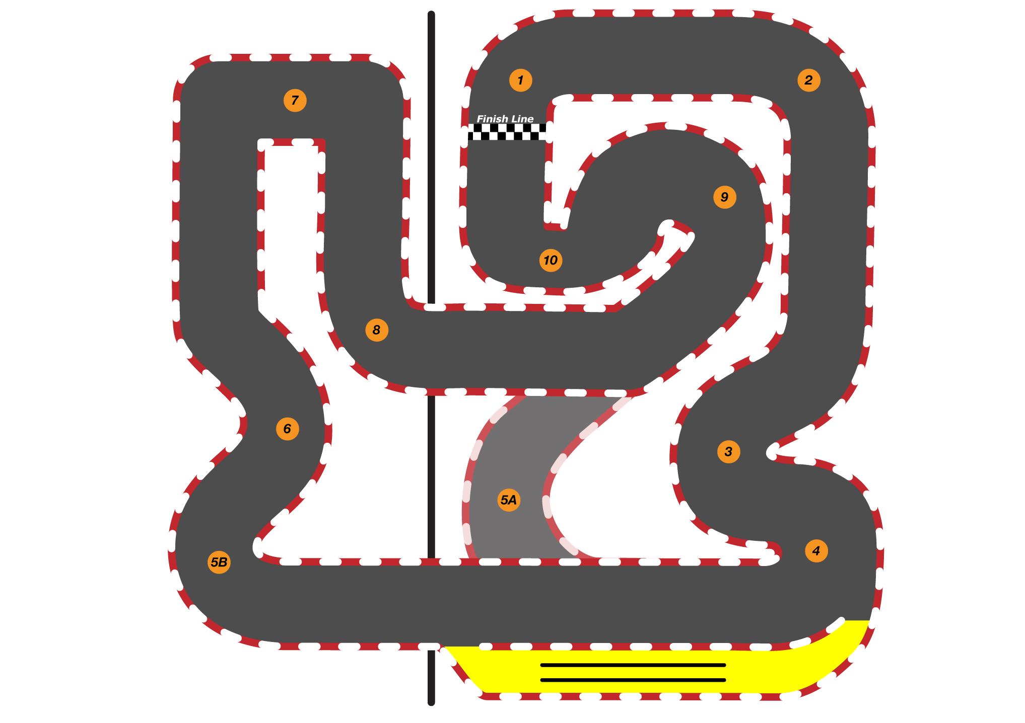 Mega fremont lemans karting. Track clipart indoor track