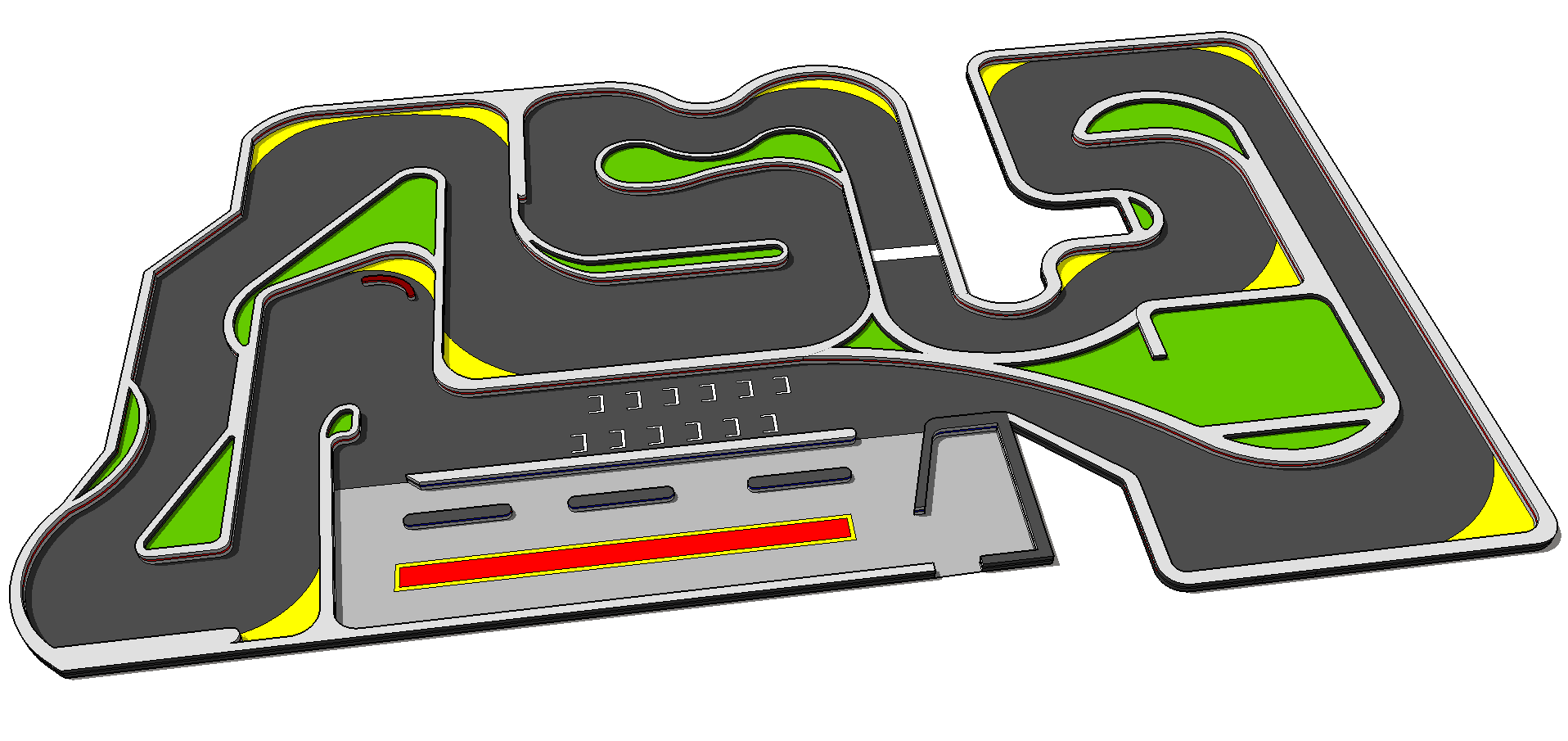 The tracks super speedway. Track clipart indoor track