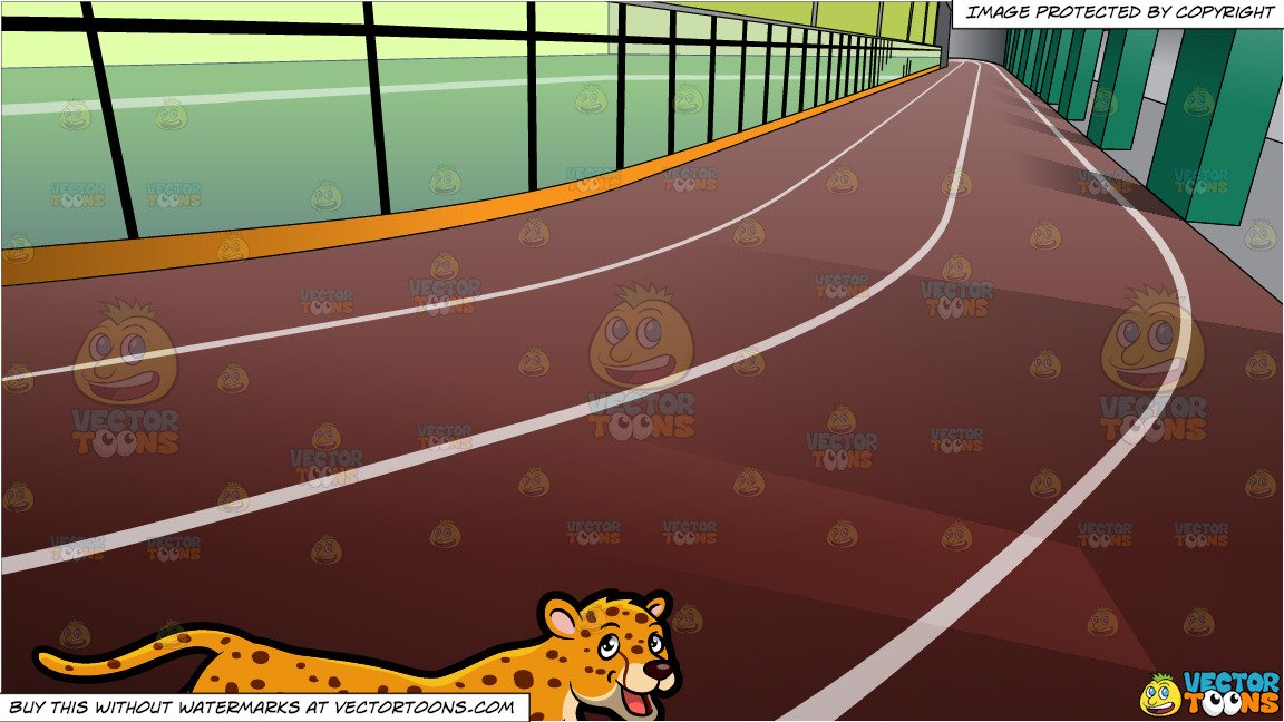 Track clipart indoor track. A cheetah and running