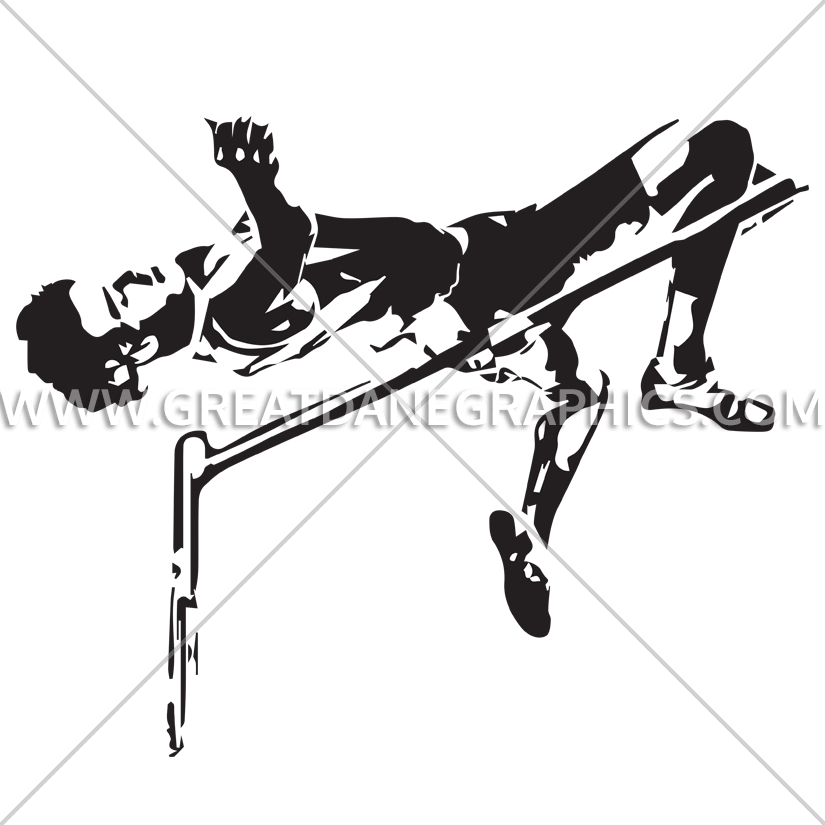 High jump production ready. Track clipart jumper