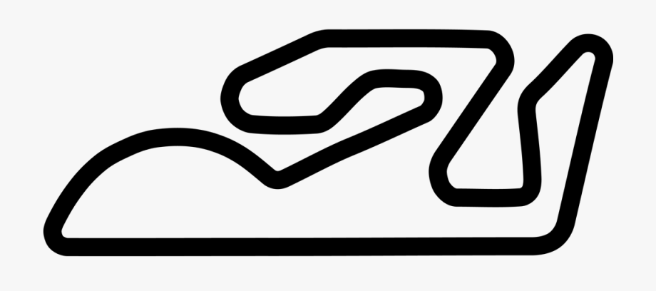 Of the circuit ricardo. Track clipart outline