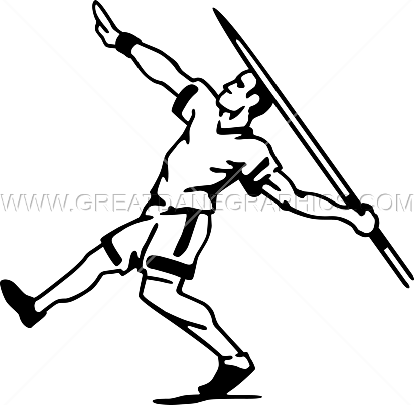 Track clipart pole vault. Javelin thrower production ready