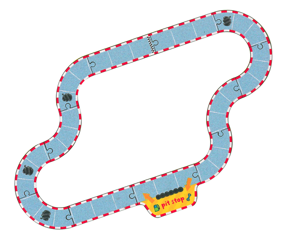 Pole position board game. Track clipart racing track