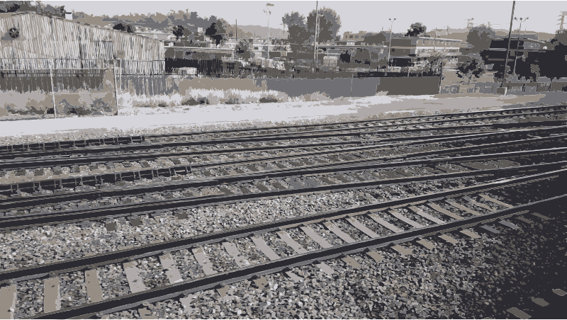 Rail road tracks for. Track clipart railroad