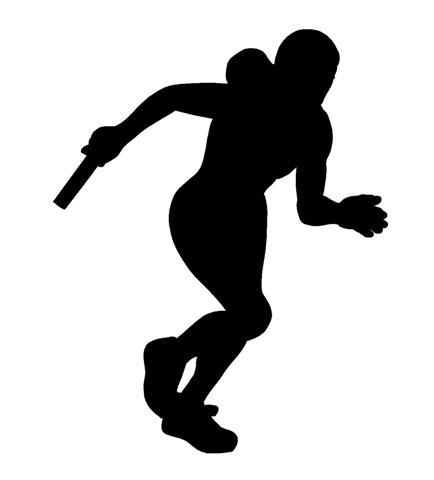 Track clipart silhouette. Free cliparts download clip