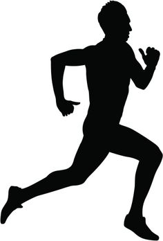 Runner clip art library. Track clipart silhouette