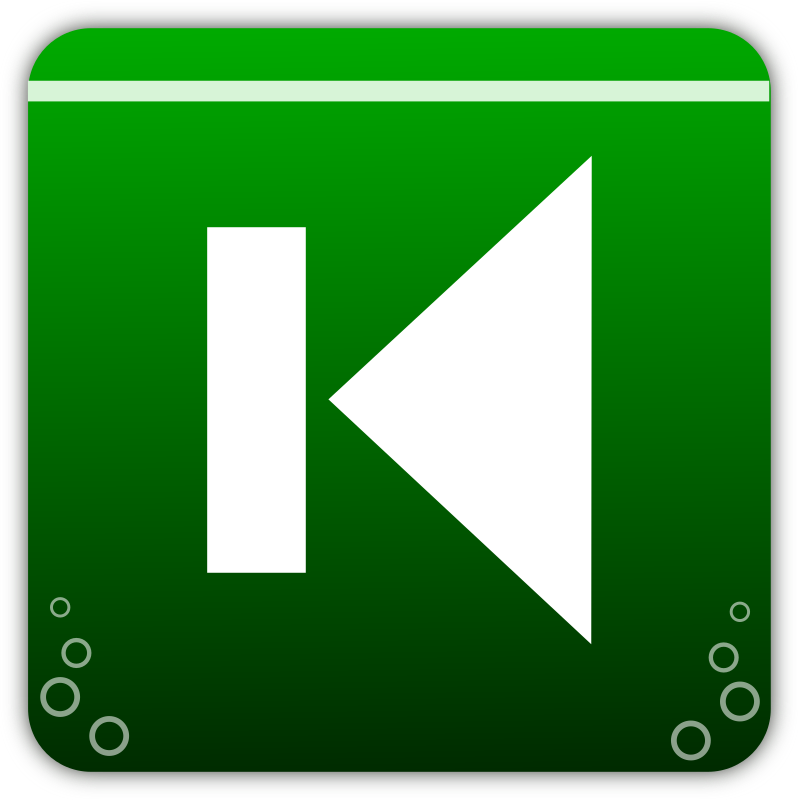 Previous icon medium image. Track clipart track player