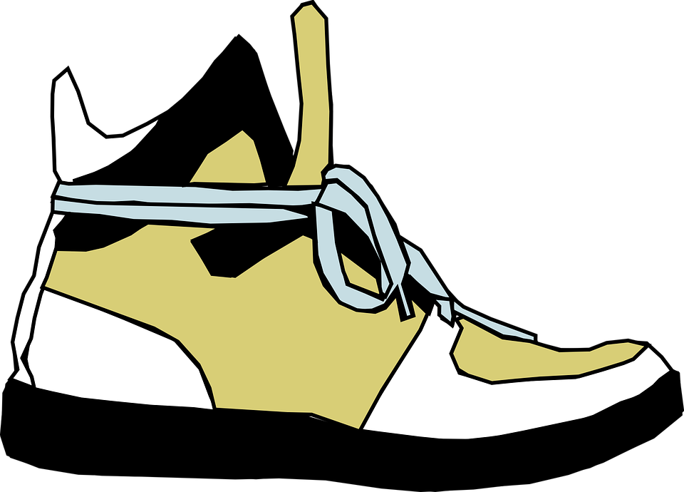 Running shoes outline shop. Track clipart track shoe
