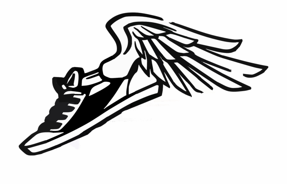 Wings and field running. Track clipart track shoe