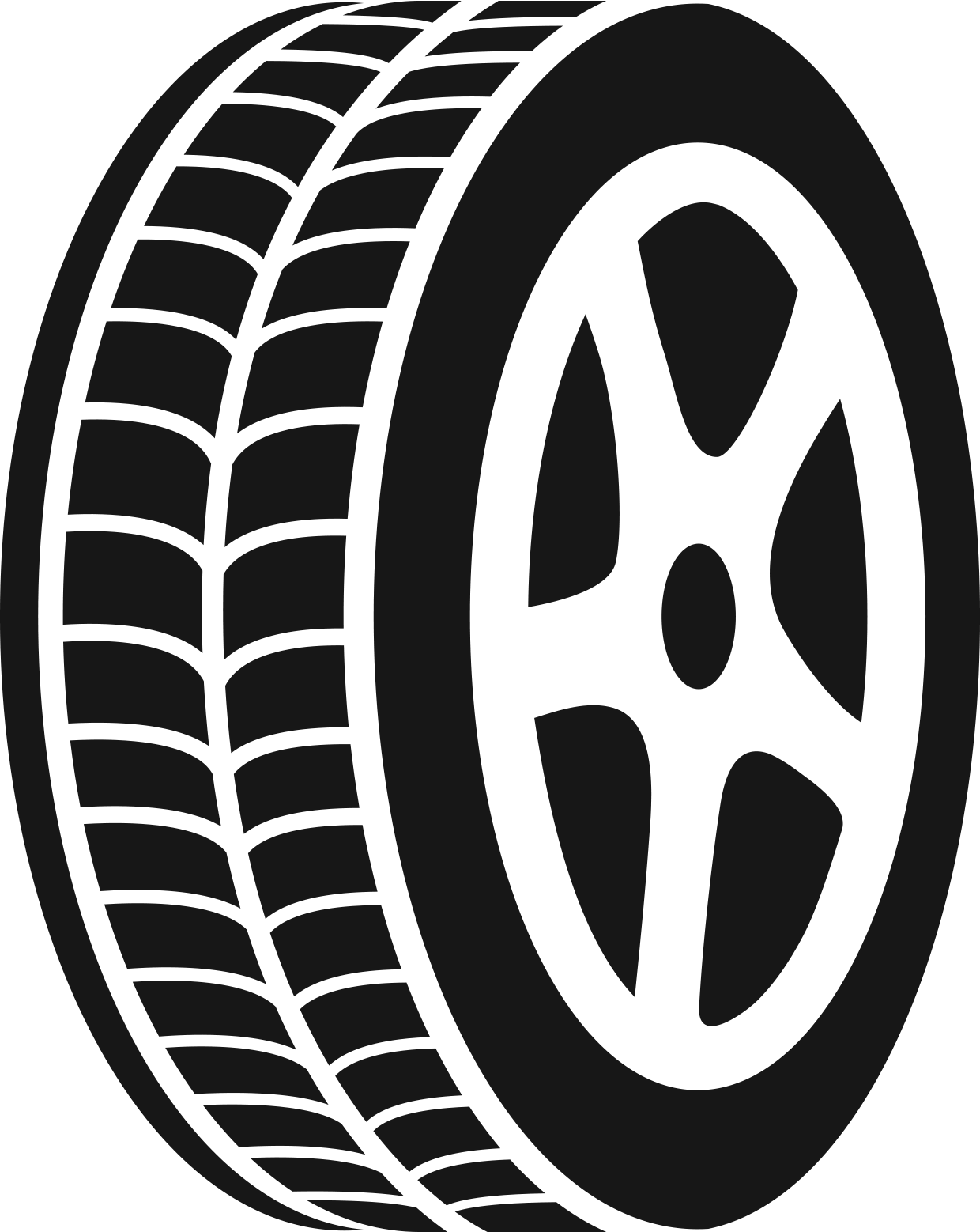 Track clipart truck tire track. Black and white of