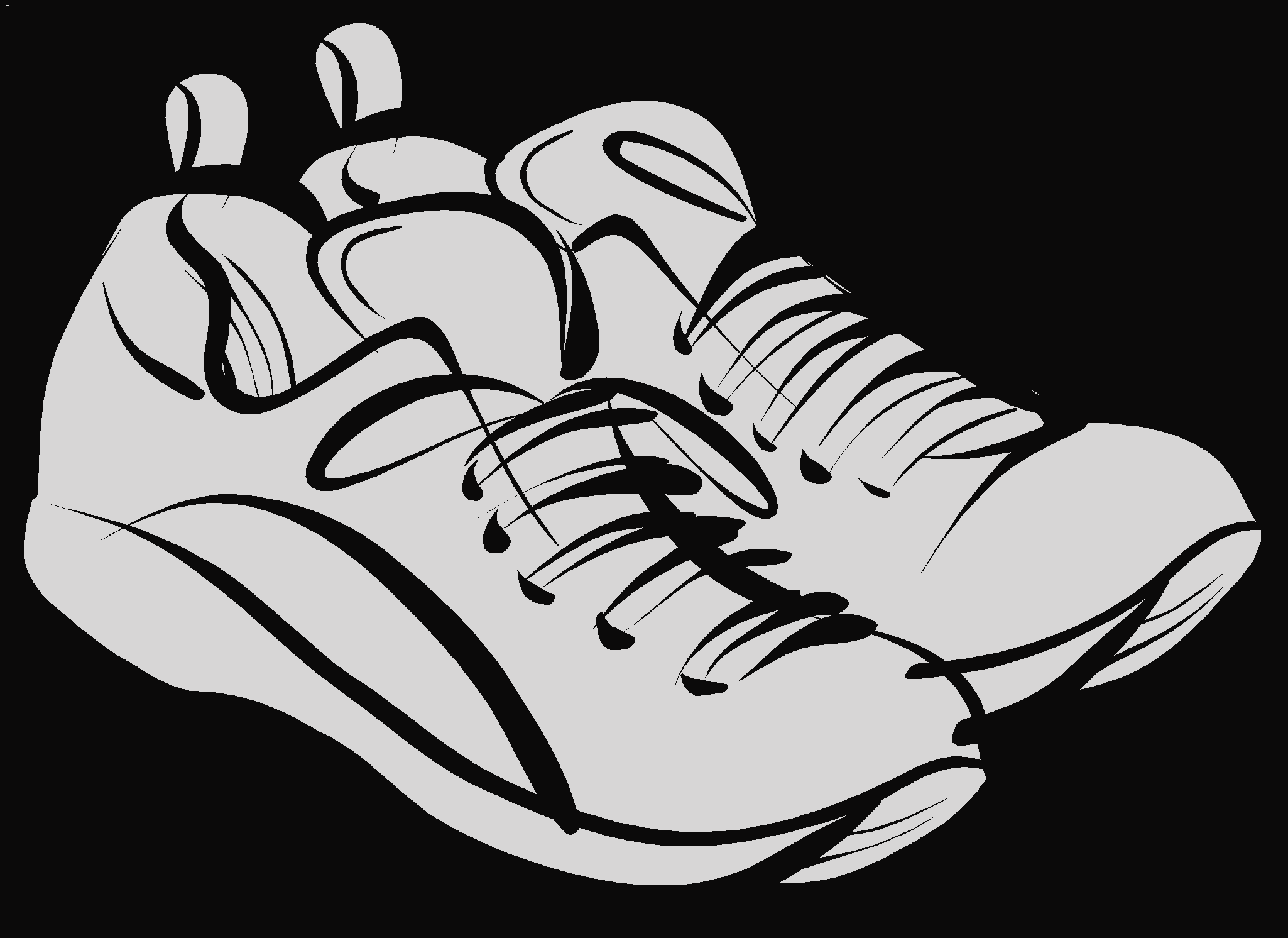 Track clipart vector. Shoe free vqruux image