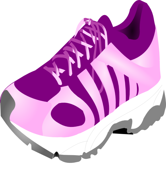 Track clipart vector. Running shoe cliparting com