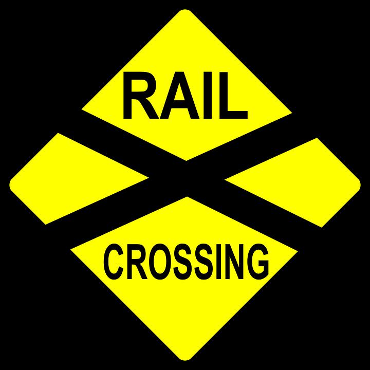 Railroad tracks railway line. Track clipart vector