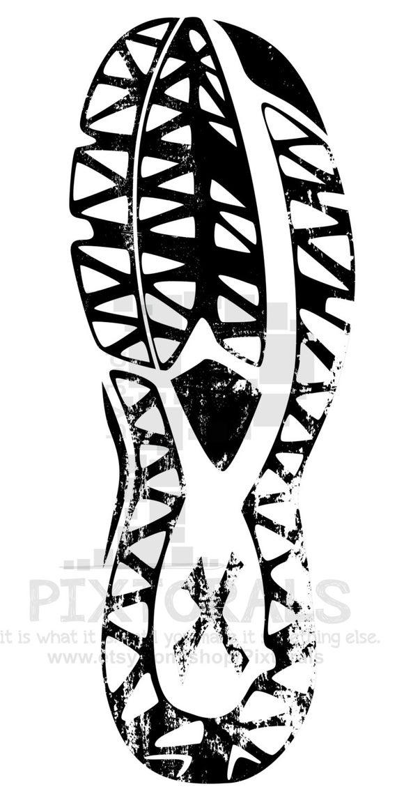 Shoe tread sketchy eps. Track clipart vector