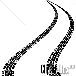 Track clipart vector. Tire tracks art design