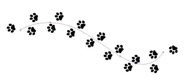 Clip art dog paw. Trail clipart