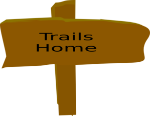 Trail clipart trail sign. From box canyon clip