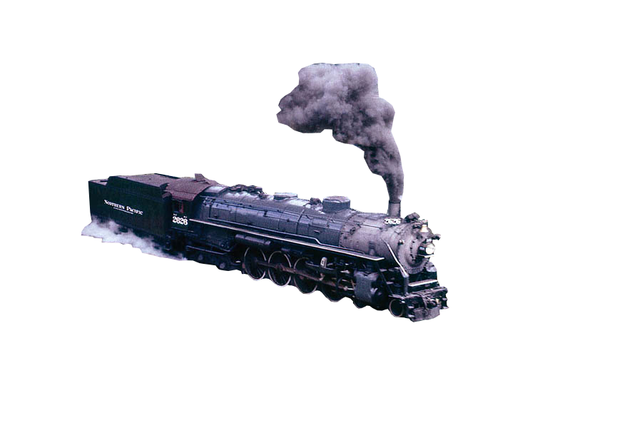 Northern pacific by zephyr. Train smoke png