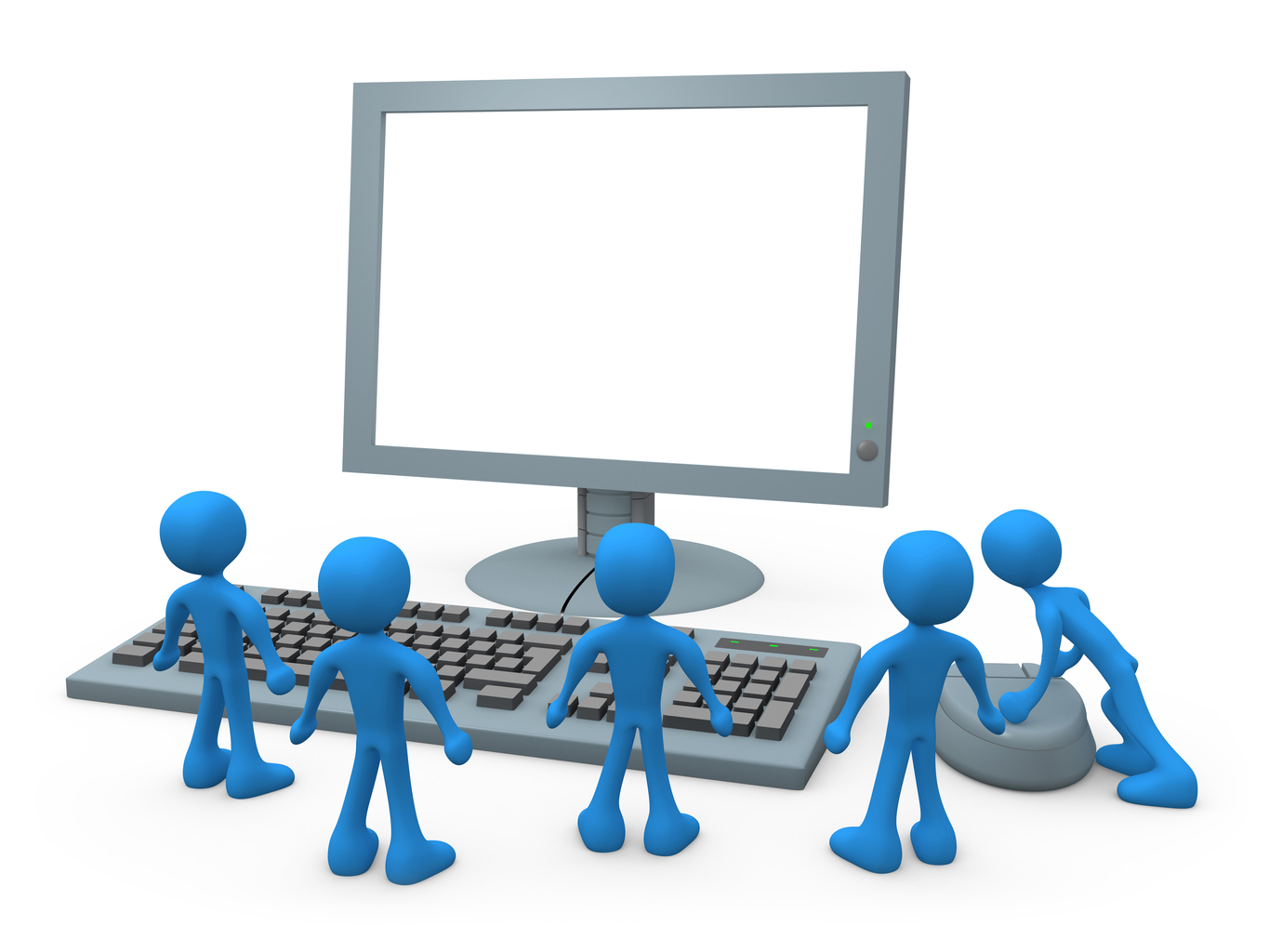 Training clipart. Computer based