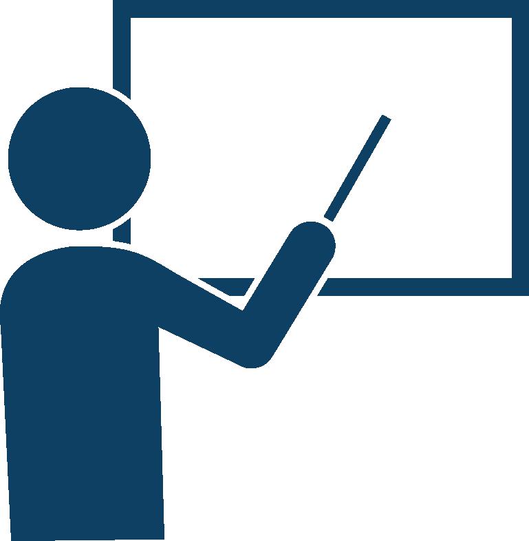 Training clipart transparent. Teacher cartoon education blue