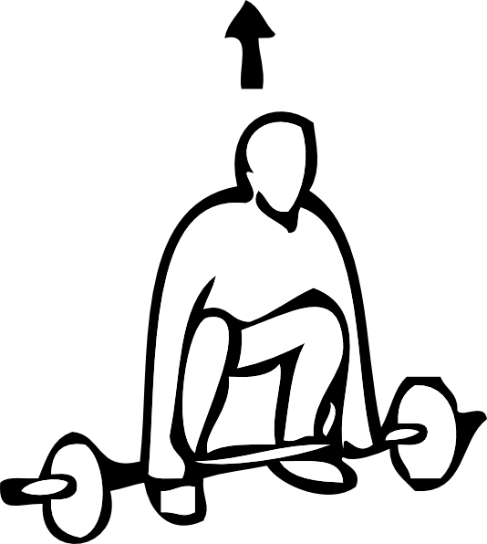 Weight clipart outline. Lifting sports clip art