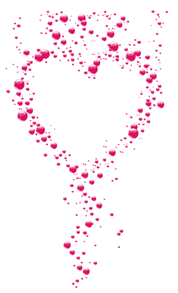 Pink bubble heart clipart. Transparent hearts png