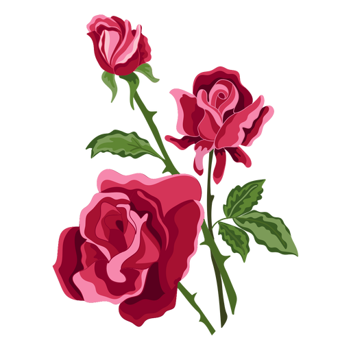 Roses vector png. Three flowers icon transparent