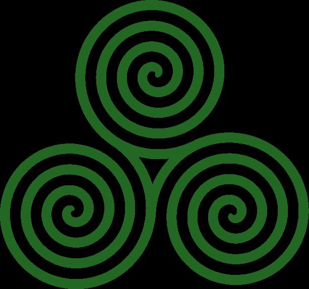 File triple spiral turns. Transparent png images