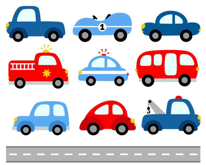 Cute cars digital clip. Transportation clipart 10 car