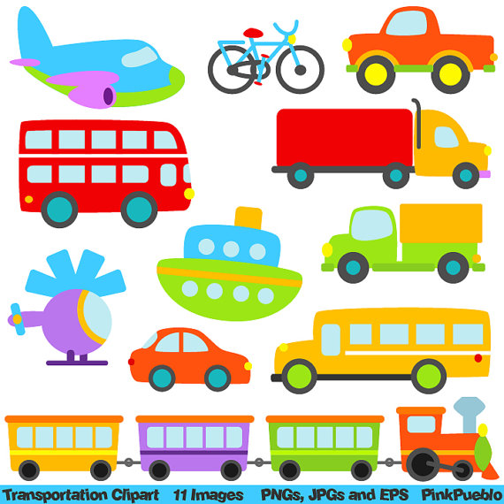 Clip art with car. Transportation clipart