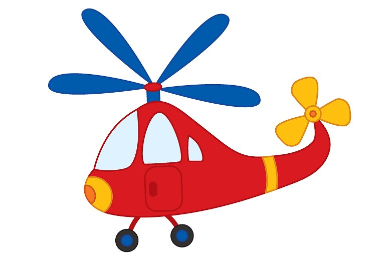 Transportation clipart. Vector helicopter transport illustrations