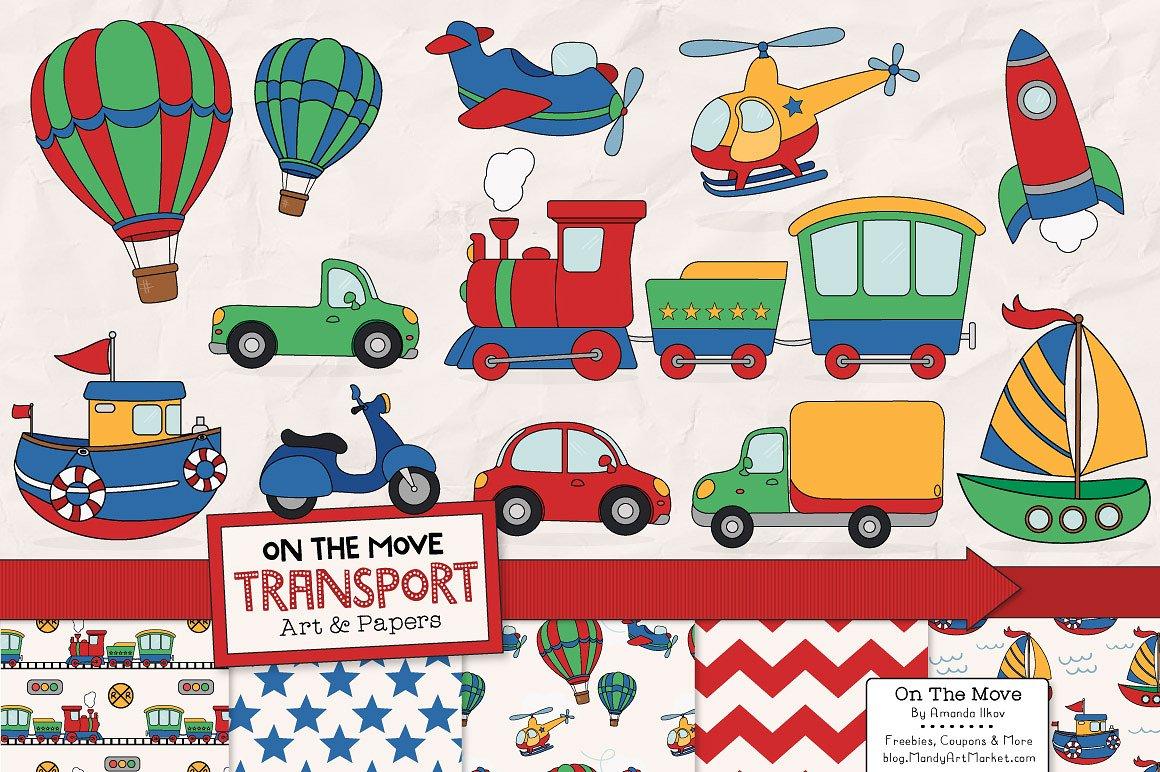 Transportation patterns illustrations creative. Market clipart