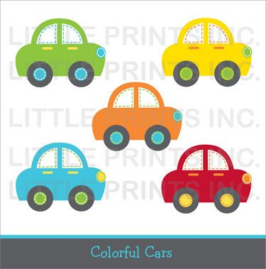 Transportation clipart baby. Cute car colorful clip