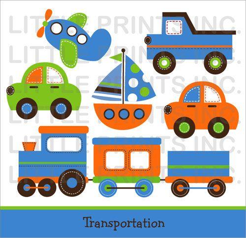 Transportation clipart baby. Shower car truck