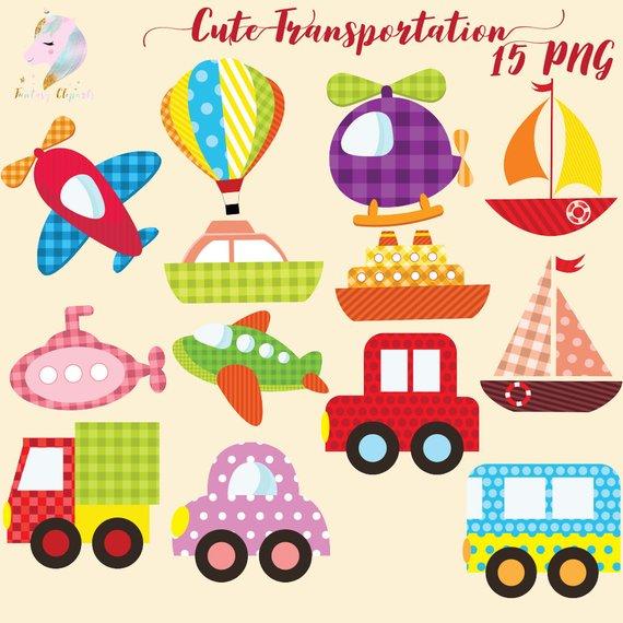 Cute transport air . Transportation clipart baby
