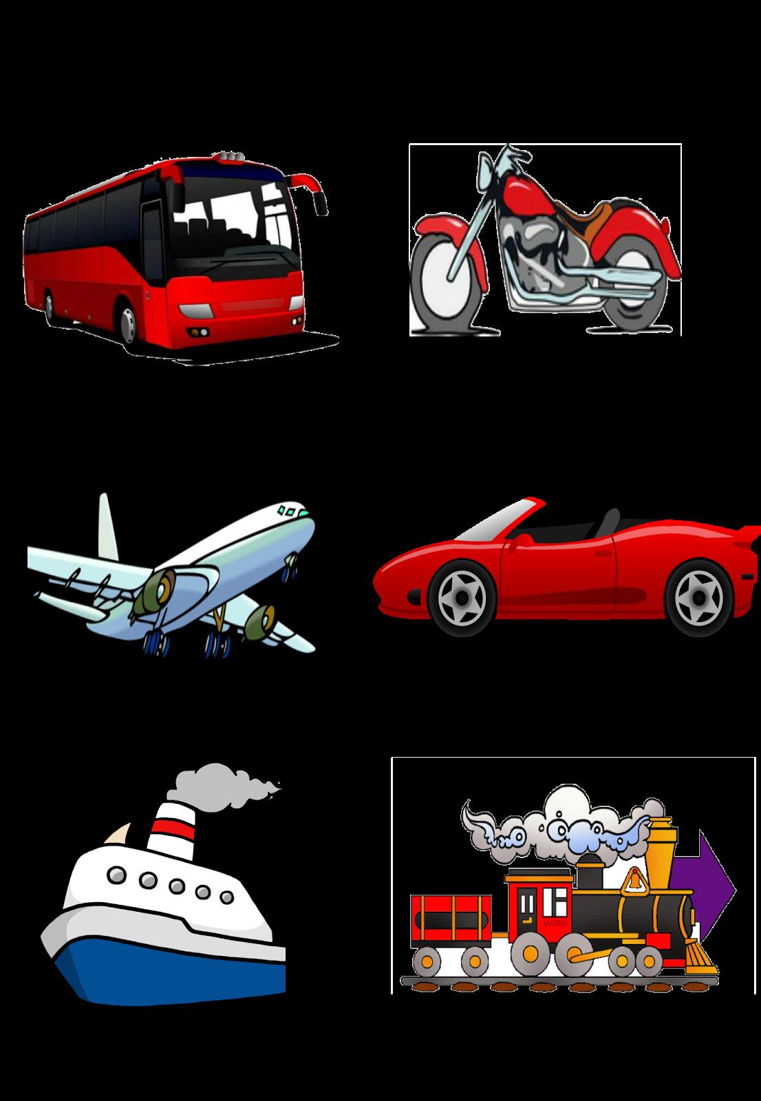 Transportation clipart bingo, Transportation bingo