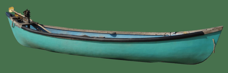Transportation clipart canoe. Vintage green transparent png