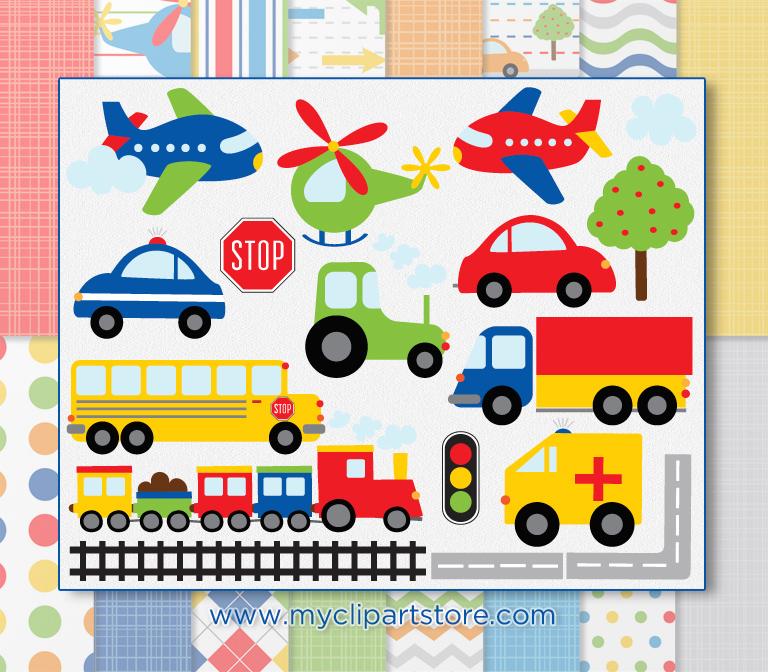 Combo . Transportation clipart kind transportation