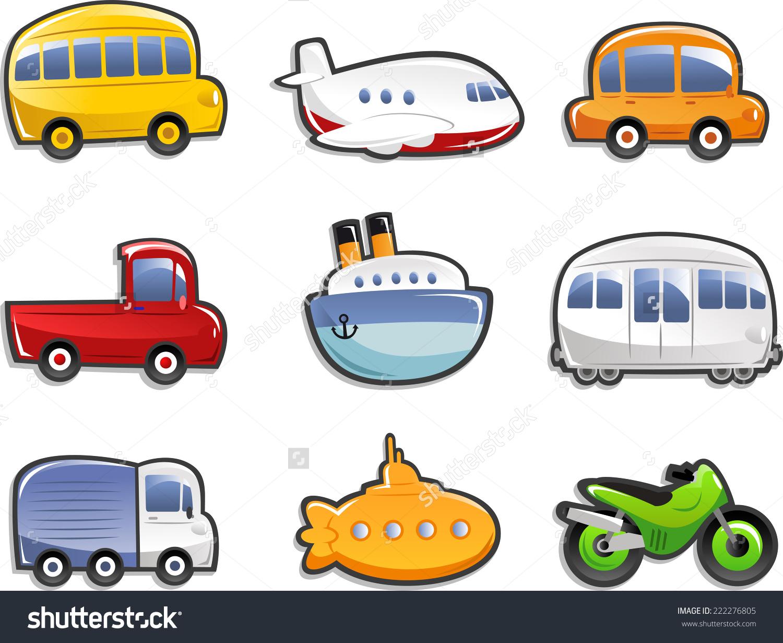 Transportation clipart mode transportation. Means of free download